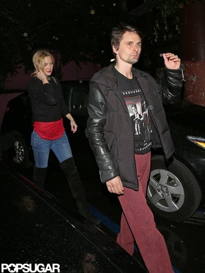 Kate Hudson had a night out with Matthew Bellamy at Pink Taco in LA.