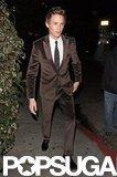Eddie Redmayne stepped out after the SAG Awards in LA.
