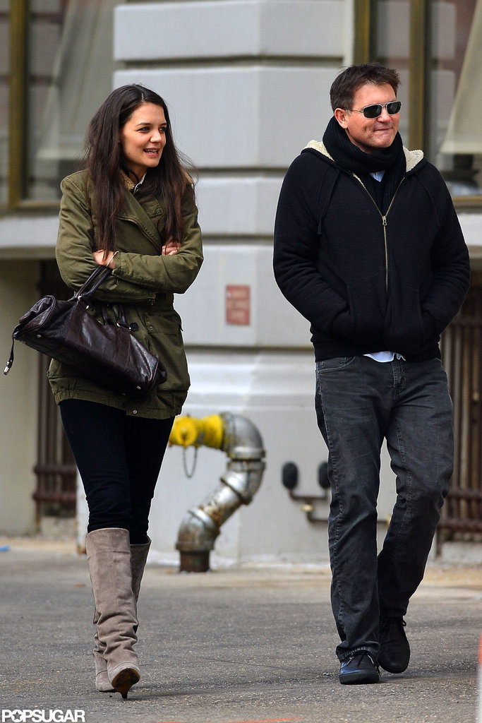 Katie Holmes had lunch with a friend in NYC on Saturday.
