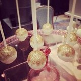 Get Your Guests Glittery With Gilded Cake Pops