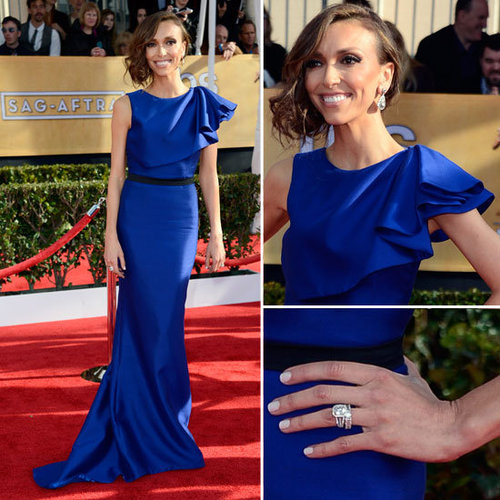 Giuliana Rancic in Blue Max Azria Atelier at 2013 SAG Awards