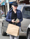 Anna Faris smiled for the camera while walking in LA.