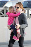 Jennifer Garner held Seraphina in her arms.