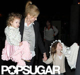 Nicole Kidman traveled with her daughters Faith Urban and Sunday Urban.