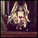 Hilary Duff showed off her new iPhone case. Source: Twitter user HilaryDuff