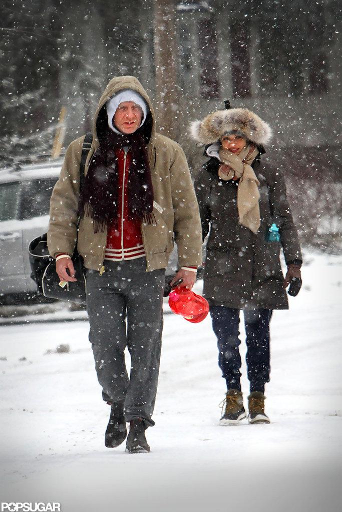 Daniel and Rachel Bundle Up to Battle an NYC Snowstorm