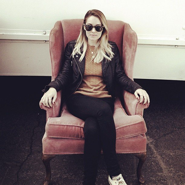 Lauren Conrad shopped for vintage furniture.  Source: Instagram user laurenconrad