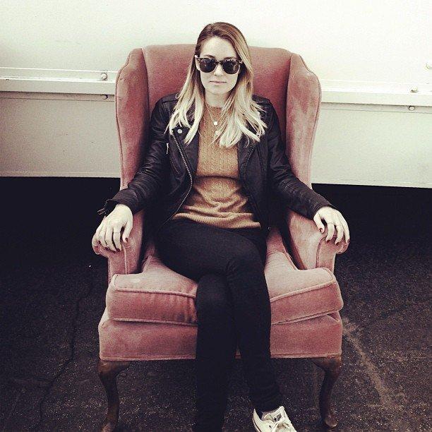 Lauren Conrad shopped for vintage furniture.  Source: Instagram user laurenconrad