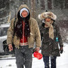Daniel Craig and Rachel Weisz Pictures in NYC Snow Storm