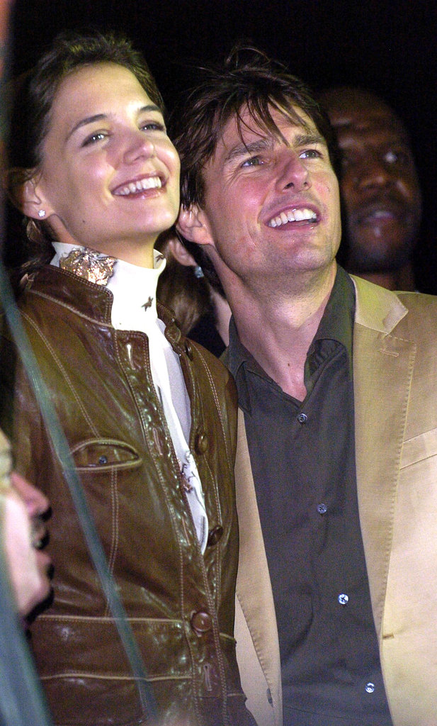 Then-couple Katie Holmes and Tom Cruise were at the