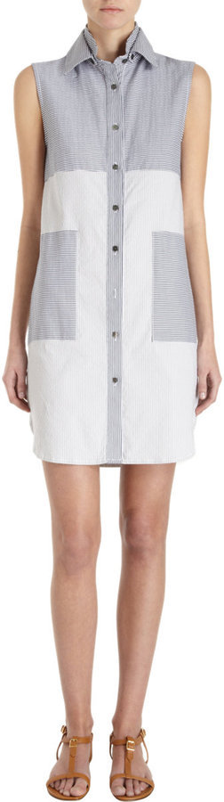 We can't wait to wear this 10 Crosby Derek Lam Seersucker Sleeveless Tunic Dress ($375) on a warm day at the office.