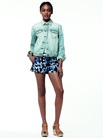 Even the girlier types can rock a faded denim jacket, proven here.