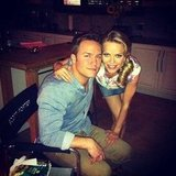 Scott Porter snapped a pic with her Hart of Dixie costar Mircea Monroe. Source: Instagram user skittishkid