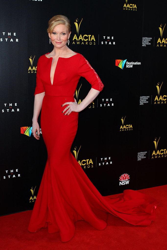 Essie Davis went for a red dress at the AACTA Awards.