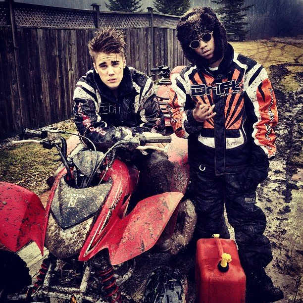 Justin Bieber went dirtbike riding. Source: Instagram user justinbieber