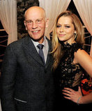 Teresa Palmer joined costar John Malkovich at the after party.