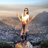 Victoria's Secret model Izabel Goulart hiked to the top of Lion's Head Mountain in Cape Town, South Africa. Source: Twitter user iza_goulart