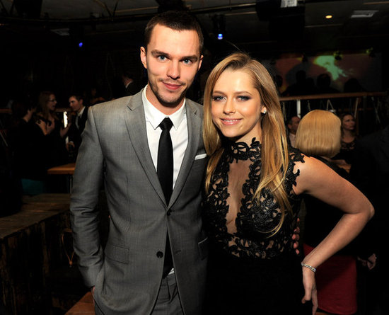 Nicholas Hoult posed with Teresa Palmer at the Warm Bodies premiere afterparty.