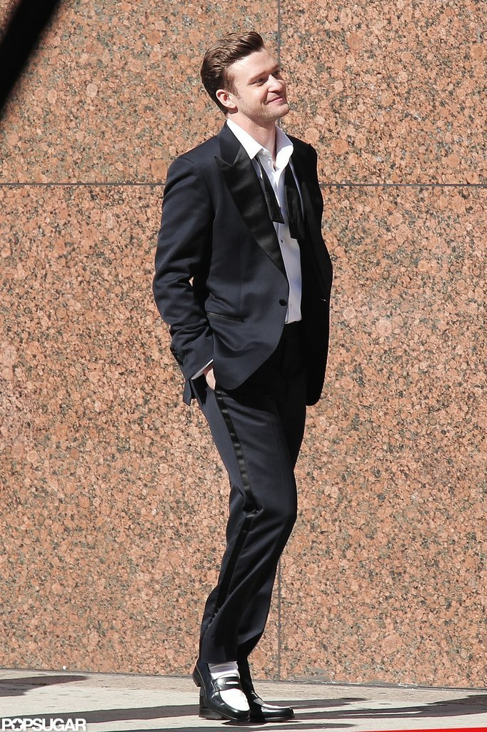 Justin Timberlake suited up for his new video shoot.
