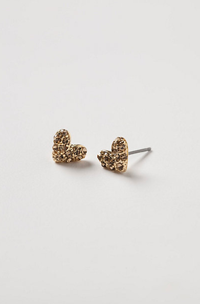 These sweet Anthropologie Shadowy Hearts stud earrings ($28) are affordable enough for you to treat yourself, and a friend.