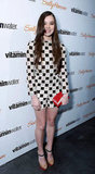 For her 16th birthday party in LA, Hailee Steinfeld stood out in a Louis Vuitton checkered romper and Nicholas Kirkwood ankle-strap pumps.