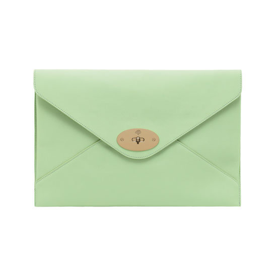 In a dream world, I would own every piece from Mulberry's beautiful new Willow collection ($1,350, available online and in stores early this month). Since that's far from reality, I'll just focus on this one piece from the line: an oversize clutch dipped in a pretty nude-meets-green hue. — Chi Diem Chau, shopping editor
