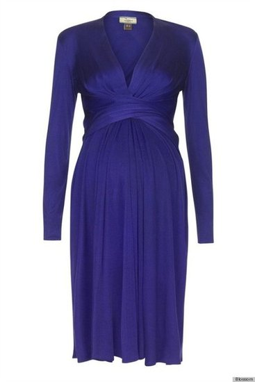 Issa Classic Silk Wrap Dress in Indigo