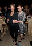 Kate Mara posed with Robin Wright at the House of Cards premiere afterparty.