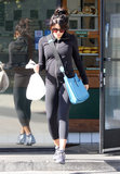 Jenna Dewan picked up a bagel after her workout.