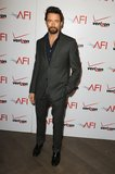Hugh Jackman suited up in gray for the AFI Awards Luncheon.