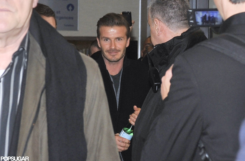 David Beckham made his way out of a Paris hospital.