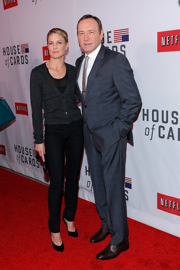 Kevin Spacey and Robin Wright chatted at the premiere.