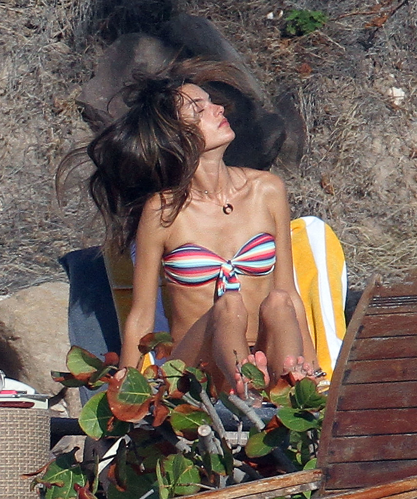 Alessandra Ambrosio Works a Bikini During Snap-Happy St. Barts Trip