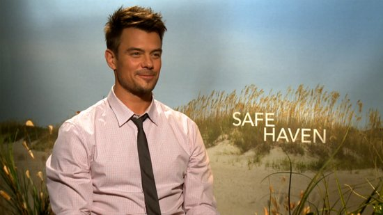 "Josh Duhamel Talks Big ""Expectations"" For Nicholas Sparks's Safe Haven"
