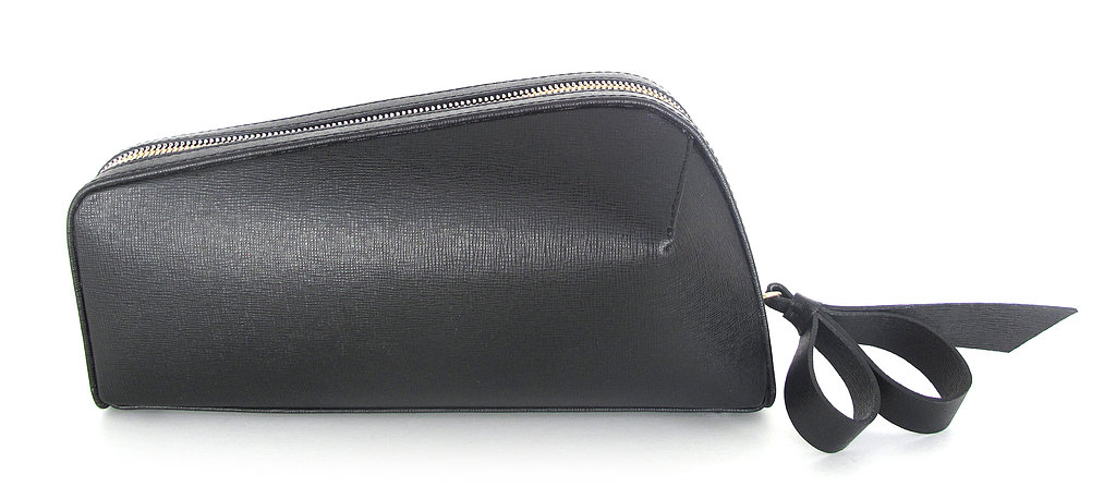 Jerome C. Rousseau Black Leather Rox Clutch ($795)