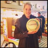 Doutzen Kroes had to snap up some cheese before leaving Holland. Source: Instagram user doutzenkroes1