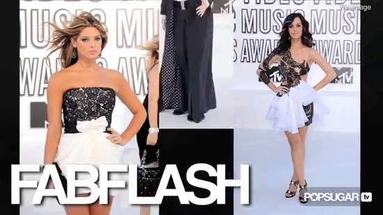 FabTV: Katy Perry, Ashley Greene, & Jane Lynch: Black and White at 2010 MTV VMAs
