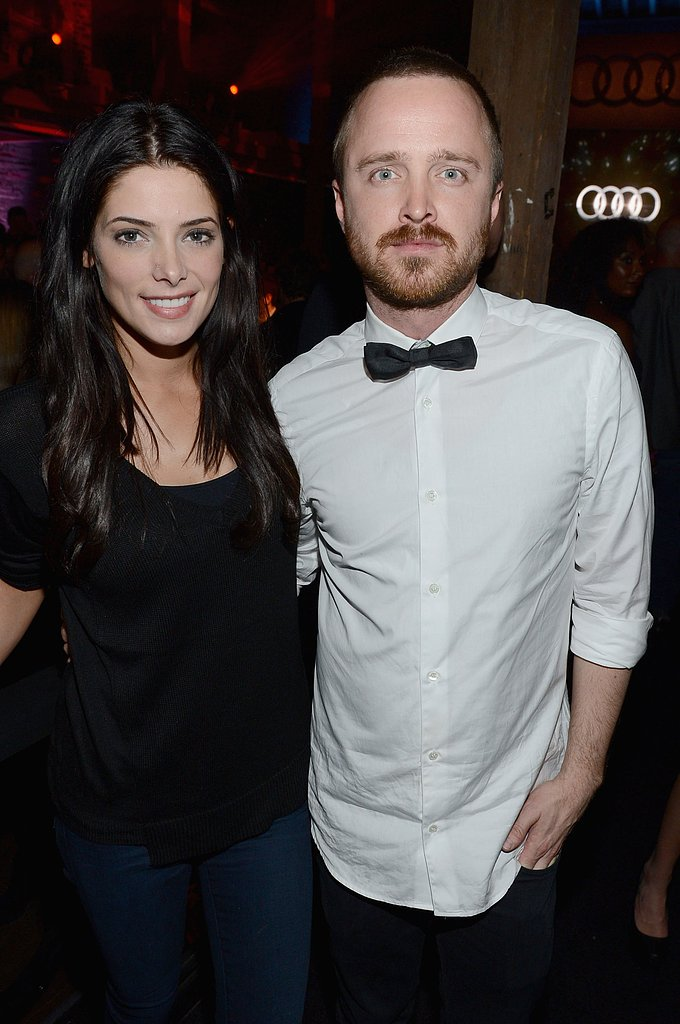Aaron Paul linked up Ashley Greene at the Audi party in New Orleans.