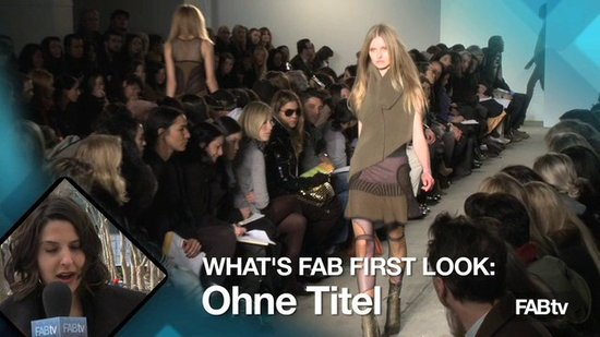 Ohne Titel Runway at New York Fashion Week: What's Fab First Look