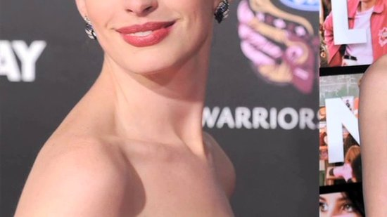 Anne Hathaway in Marchesa at Valentine's Day Movie Premiere: CelebStyle