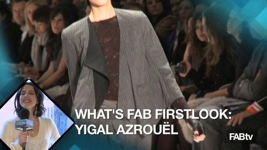 Yigal Azrouël Fall Fashion Week 2010: What's Fab First Look
