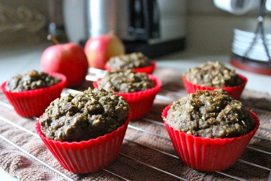 Warm Apple Cinnamon Protein Muffins
