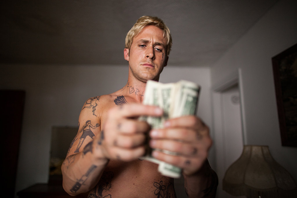 Ryan Gosling goes shirtless in The Place Beyond the Pines.