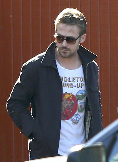 Ryan Gosling left lunch with a friend in LA.