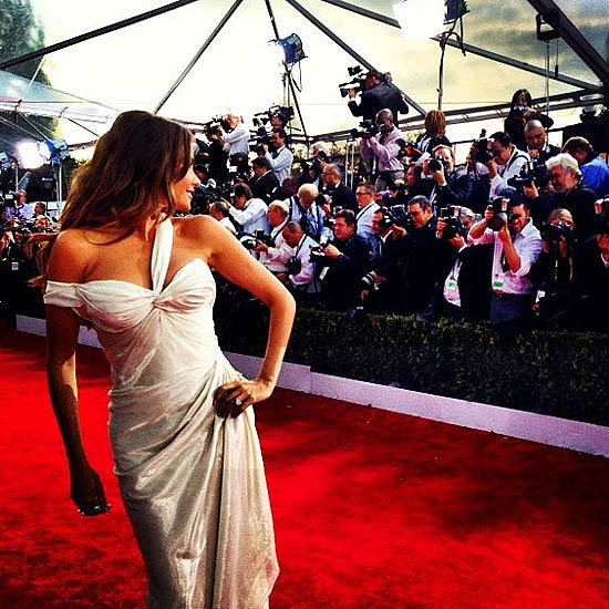 Peep behind-the-scenes snaps from the SAG Awards in our celebrity Instagram gallery.