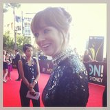 You look so hot today, Rhonda! We bumped into Mandy McElhinney from the famous AAMI ads at the AACTAs, and she was looking so lovely!