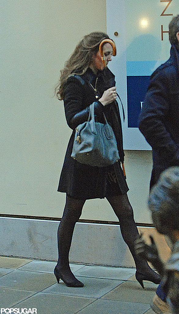 Pregnant Kate Middleton went shopping around London.  Source: Simpson/Bushell