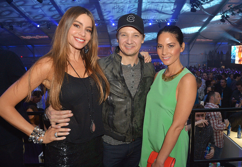 Sofia Vergara, Jermey Renner, and Olivia Munn hung out at the Rolling Stone Live Party in New Orleans Friday before the Super Bowl.