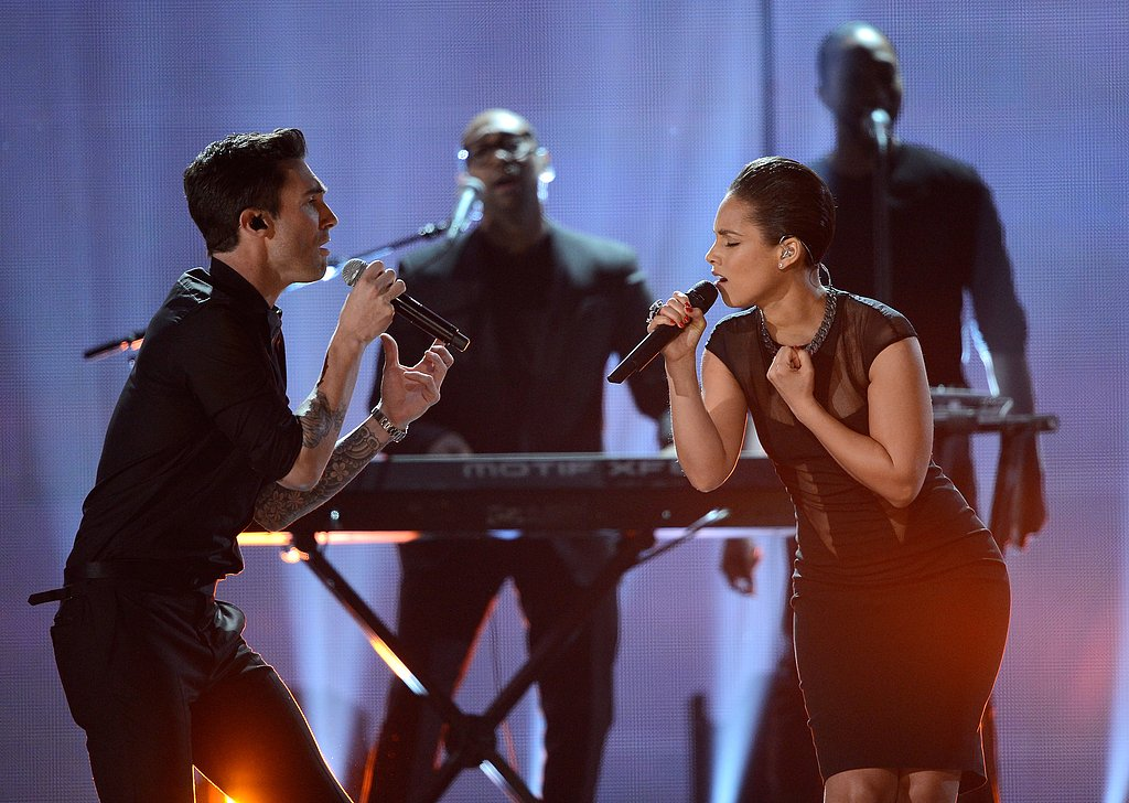 Adam Levine and Alicia Keys