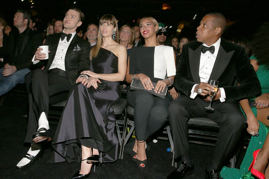 Justin Timberlake, Jessica Biel, Beyoncé, and Jay-Z